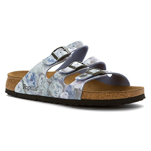 Birkenstock Unisex Florida Silky Rose Blue Birko-Flor? Sandal 36 (US Women's 5-5.5) Narrow - Birkenstock Floral Sandals