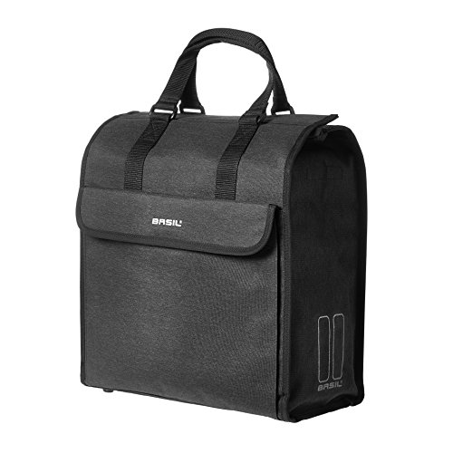 (Basil Mira Shopper Bag and Bicycle Pannier - Black - 17 litres)