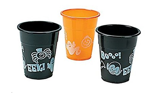 HALLOWEEN CUPS- 50 PC - 16 OZ - DISPOSABLE HALLOWEEN PARTY CUPS
