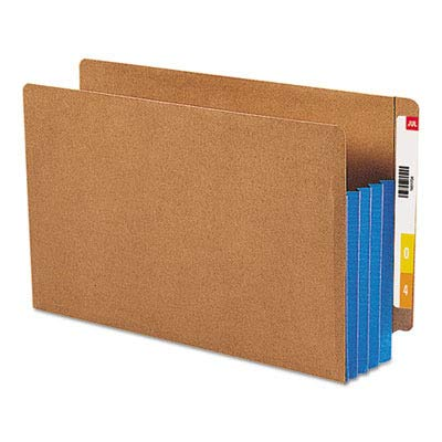 Colored Gussets - SMD74679 - Smead 74679 Blue Extra Wide End Tab File Pockets with Reinforced Tab and Colored Gusset