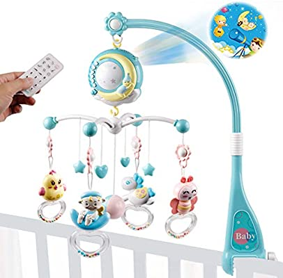 Musical Crib Mobile Toy Rattles Projection Crib Toy for Infant Baby Newborn