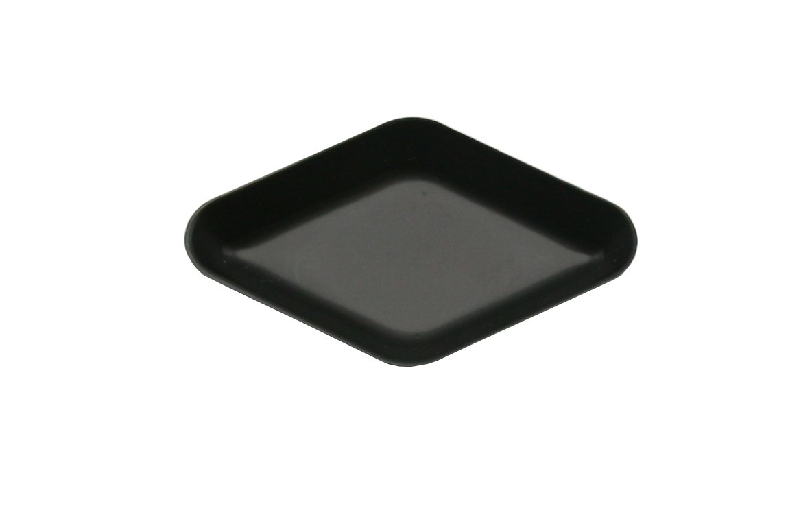 Heathrow Scientific HD1427AA Diamond Weighing Boat, Polystyrene, 55 mm Length x 35 mm Width x 6 mm Depth, Black (Pack of 500) HS1427AA