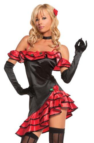 Sexy Spanish Lolita Costume - Womens Medium (6-10) (Spanish Sexy)