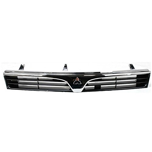 Koolzap For 97-01 Mirage 4-Door Sedan Front Grill Grille Assembly Chrome MI1200214 MR191519 ()