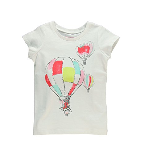 Hartstrings Big Girls Short Sleeve Air Balloon Tee White 8