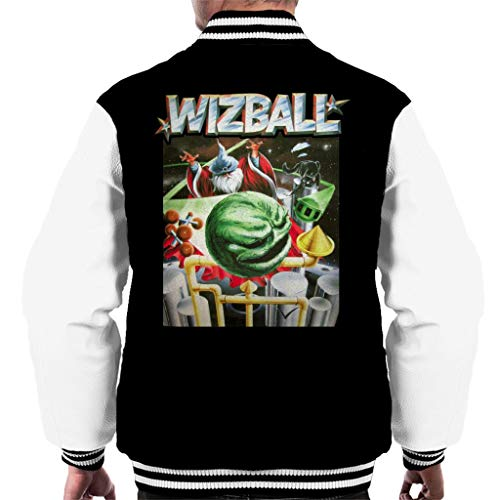 White White Black Men's Jacket Art Art Varsity Cover Wizball YvzZwZ