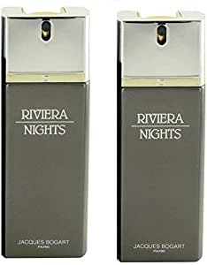 Two -2- Riviera Nights by Jacques Bogart for Men each Piece 100ml
