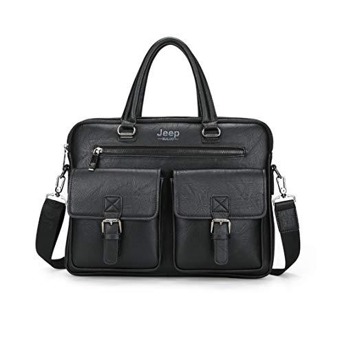 Pulgadas 15 Shoulder Gran Pu Soul Hombro Capacidad Cuero Trabajo Jamie Bags Handbag Bolso De Ordenador Moda Multibolsillos Bandolera Bolsa Negro Maletines Hombre Negocio Suave wYfqwx0P