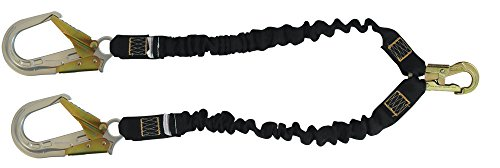 Tractel C526Y Stretchfor Shock-Absorbing Lanyard with Two Arms, 3/4