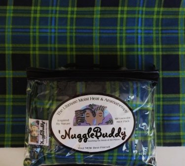 veable Moist Heat & Aromatherapy Organic Rice Pack. Beautiful VERMONT Plaid Flannel Fabric with Sweet Lavender Aromatherapy or Unscented. (Unscented) ()