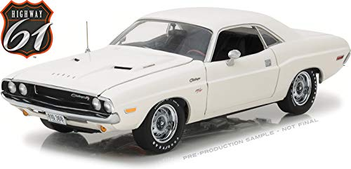 Greenlight HWY-18008 Highway 61-1970 Dodge Challenger R/T White 1/18 Scale Diecast Model