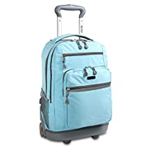 J World New York Sundance II Rolling Backpack, Seafoam, One Size