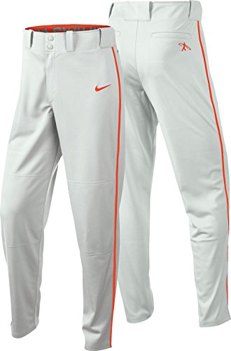 Nike Boys' Swingman Dri-FIT Piped Baseball Pants (M, White/Red) by NIKE