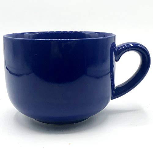 24 ounce Extra Large Latte Coffee Mug Cup or Soup Bowl with Handle - Cobalt Blue ()
