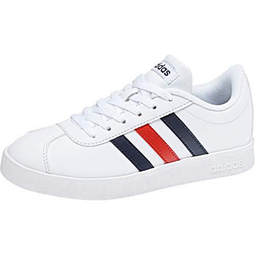 0 Unisexe 2 Blanc blanc Sneakers K Adidas 000 Adulte Court Vl 7YtwSx