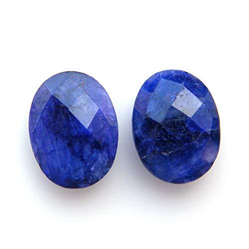 Surbhi Crafts Blue Sapphire Beryl Cabochon Pair 16ct Oval Shape Blue Beryl 16x12x5mm, K-3898 by Surbhi Crafts