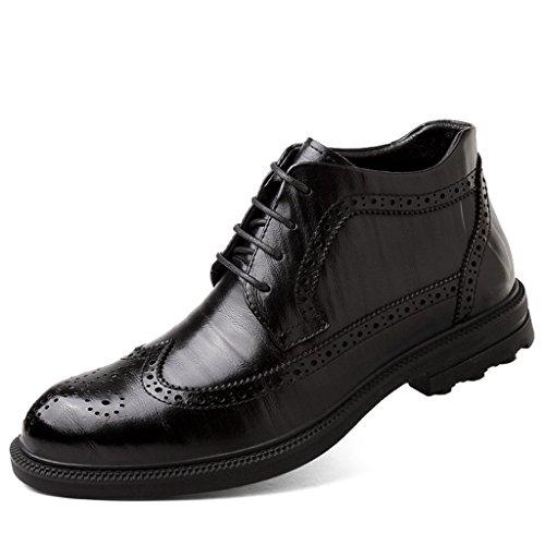 2017 Winter Martin Stiefel High Top Männer Schneeschuhe Casual Leder Schuhe Rutschfeste Polsterung Militärstiefel Plus Plüsch 38-44 Black