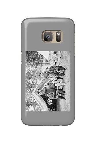 Fair Oaks, VA - Gen. Caldwell and Staff Civil War Photograph (Galaxy S7 Cell Phone Case, Slim Barely - Fair Va Oaks
