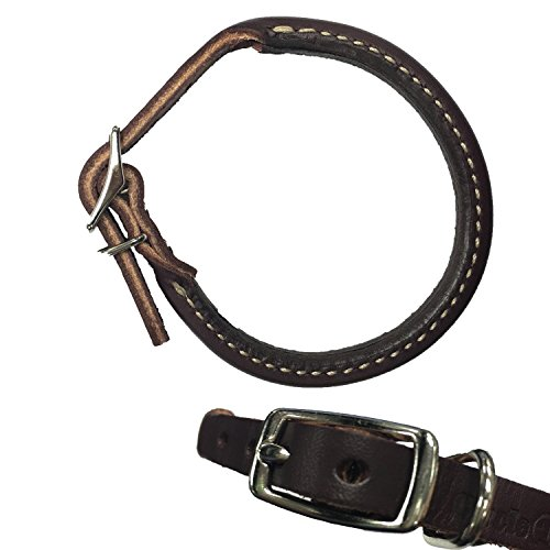 (Scott Leather - Latigo Round Collar - Black - 3/4 X 20)