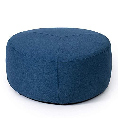 KSDGQ Shoe Bench stools Ottoman Footstool Pouffe Change Shoe Stool Removable Linen Cover Living Room (Color : Denim Blue, Size : 80 80 38cm)