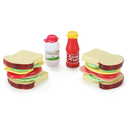 16 Pcs Country Club Sandwich Making Play Food Set for Kids