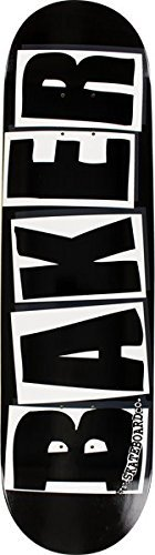 Baker Skate - Baker Brand Logo Black / White Skateboard Deck - 8.25