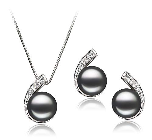 - Claudia Black 7-8mm AA Quality Freshwater 925 Sterling Silver Cultured Pearl Set For Women