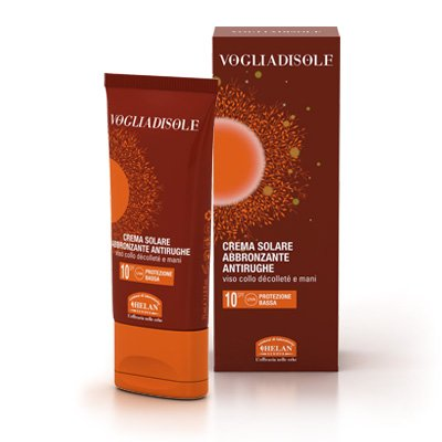 Helan Vogliadisole Anti-Aging Self Tanning Sun Cream PABA Free Paraben Free and Oxybenzone Free