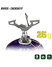 BRS Ultralight Titanium Alloy Camping Gas Stove Outdoor Burner Cooking Stove 25g BRS-3000t