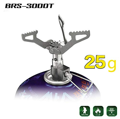 BRS Ultralight Camping Gas Stove Outdoor Gas Burner Cooking Stove Portable Folding Titanium Atove 25g by Argos: Amazon.es: Deportes y aire libre
