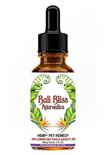 Full Spectrum Hemp+ Oil Pet Remedy for Dogs, Cats & Horses, 550mg's of Pain Releif, Separation Anxiety, Hip & Joint Health and More by Bali Bliss Ayurvedics by Bali Bliss Ayurvedics
