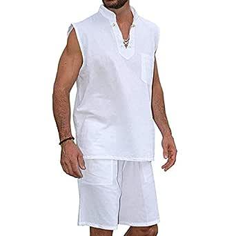 Camiseta Hombres Moda tee Camisas Hippie Manga Corta Traje Corto ...