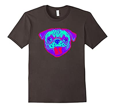 EDM Electronic Dance Techno Neon Pug Rave T-Shirt