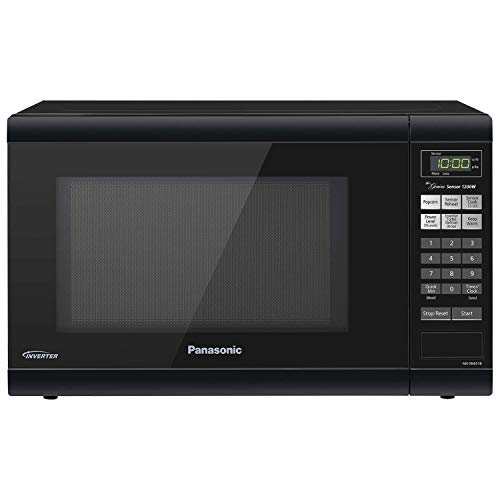 Panasonic Microwave Oven NN-SN651B Black Countertop with Inverter Technology and Genius Sensor, 1.2 Cu. Ft, 1200W (Renewed)
