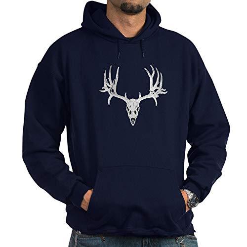 CafePress Mule Deer Skull White Pullover Hoodie, Classic & Comfortable Hooded Sweatshirt