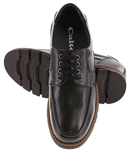 buy cheap with mastercard CALTO G63810-3 inches Taller - Height Increasing Elevator Shoes - Black Lace-up Casual Shoes cheap 2014 unisex RoMNcjlh6