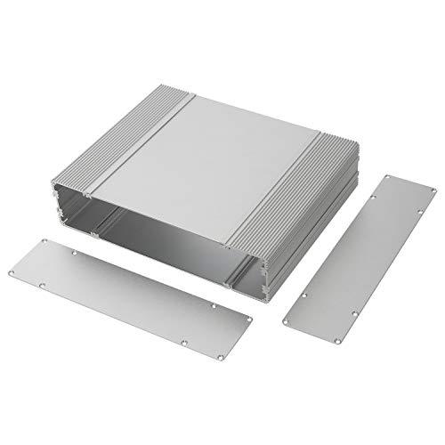 "YaeCCC Aluminum Enclosure Metal Shell Electronic Project DIY Box Case for PCB Instrument Amplifier - 255 x 205 x 60mm / 10""x 8""x 2.36""(LxWxH)"