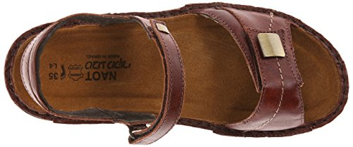 Flat Papaya Naot Women's Leather Luggage Brown 4wE1fwcq
