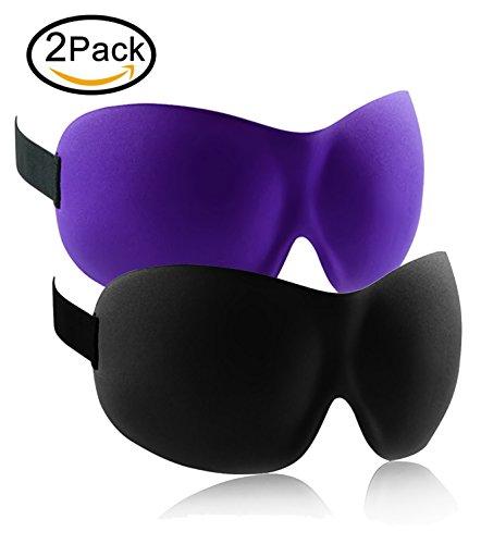 Sleep Mask,2 Pack 3D Sleeping Masks Blindfold Eye Covers for Night Eyeshades Blinder for Travel