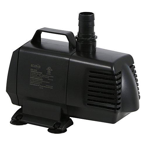EcoPlus 2160 GPH (8176 LPH, 226W) Submersible Water Pump w/ 15 ft Power Cord | Aquarium, Fish Tank, Fountain, Pond, Hydroponics by EcoPlus