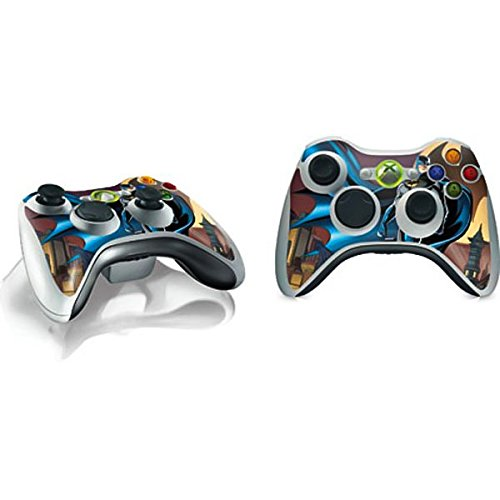 Skinit Decal Gaming Skin for Xbox 360 Wireless Controller - Officially Licensed Warner Bros Batman in The Sky Design