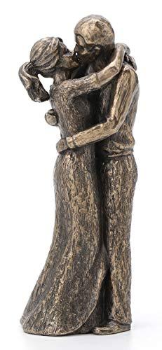 JFSM INC. Soulmates Lovers Kissing True Love Sculpture - Perfect Wedding Anniversary Present (Love Sculpture)
