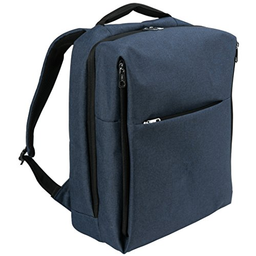 Water Resistant Laptop Backpack, Anti-Theft School Travel Backpack Fits Up to 15.6 Inch Laptop (Blue)