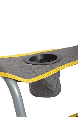 QuikShade 150239 Quik Chair Heavy Duty Folding Camp Chair – Grey