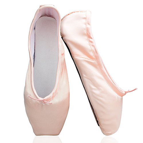 Ballet Pointe Shoes for Girls Women With Ribbon Gel Toe P...