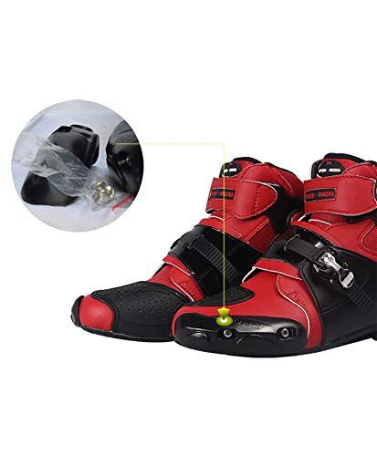 Souples et imperm/éables Chaussures de Moto Bottes de Motocross Yiwa Bottes de Moto antid/érapantes