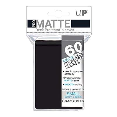 Ultra Pro 60ct Pro-Matte Black Small Deck Protectors, black, small: Sports & Outdoors