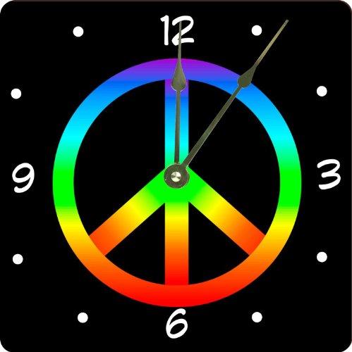 Rikki Knight Rainbow Peace Sign on Black Design 13