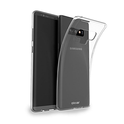 online store 9bd40 9291e Olixar Samsung Galaxy Note 9 Clear Case - Slim Soft Gel Cover - Ultra Thin  Silicone - 100% Clear - Flexible Transparent Case - Wireless Charging ...