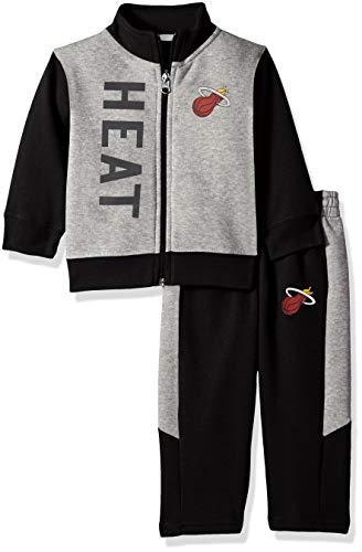 the best attitude 60bad a8671 Outerstuff NBA NBA Infant Miami Heat On The Line Jacket & Pants Fleece Set,  Black, 12 Months